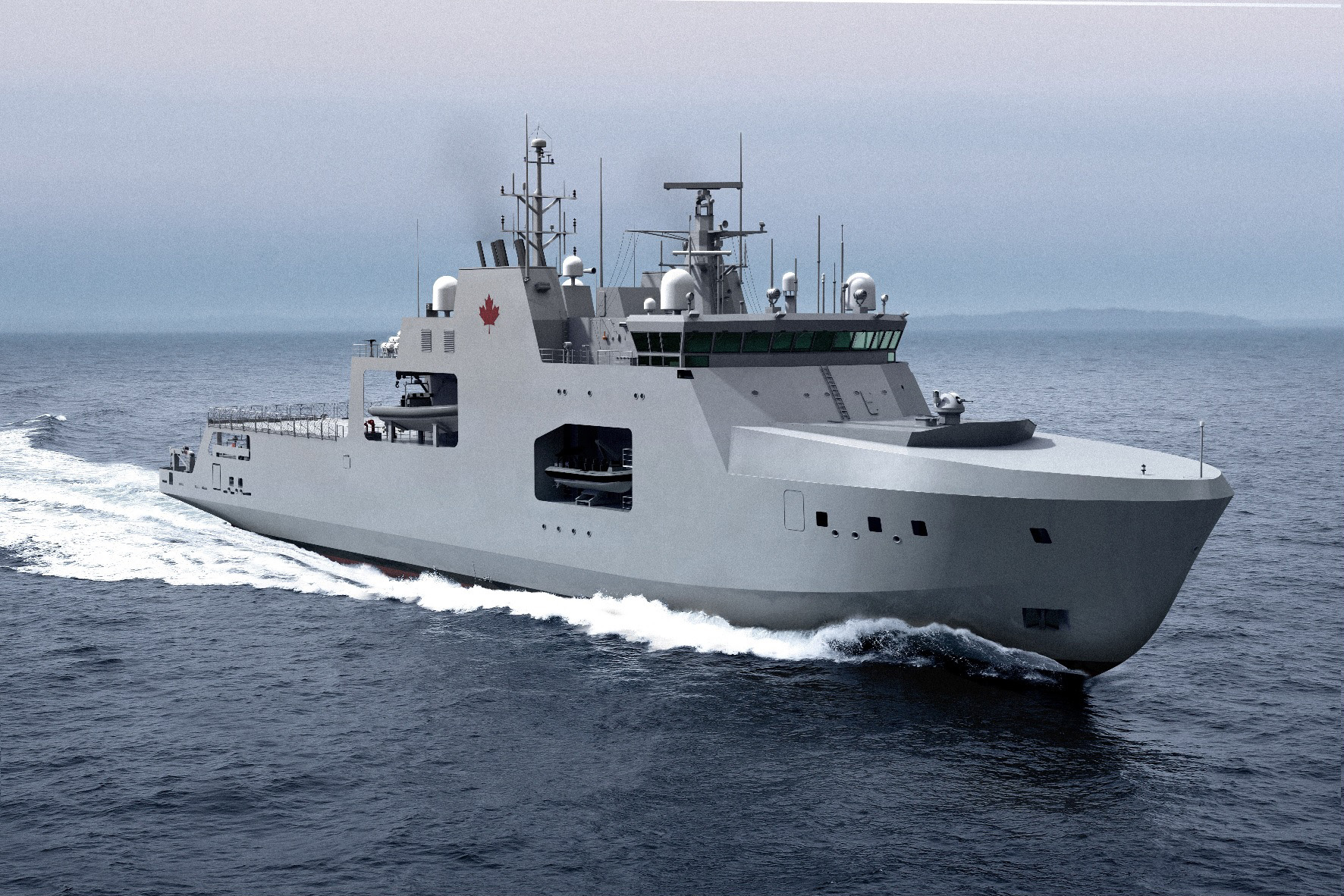 Artist's impression of the Harry DeWolf-Class Arctic/Offshore Patrol Vessel.