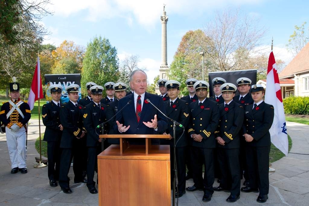 Slide - The Hon. Rob Nicholson, Minister of National Defence, announced the names of the Royal Canadian Navy's Joint Support Ships