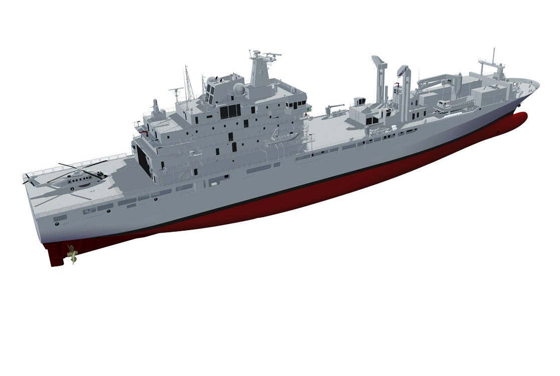 Slide - Artist rendering of the definition design for Joint Support Ship.