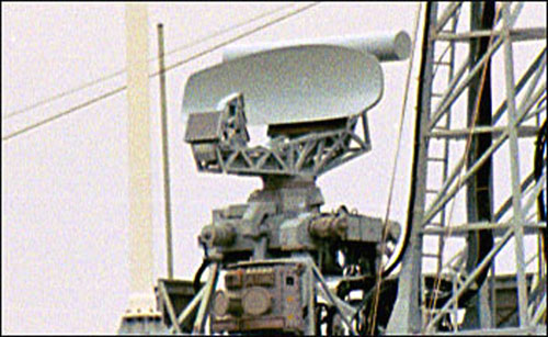 ERICSSON SEA GIRAFFE HC 150 AIR / Surface Search Radar: This G-band Air/Surface Search Radar is capable of providing accurate tracking data to the ships Combat Information Center and weapons systems.