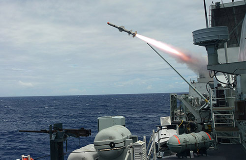 Harpoon Block II: The Harpoon Missile System Upgrade adds GPS guidance and better near-shore capability with an anti-ship missile, also capable of performing land-strikes.