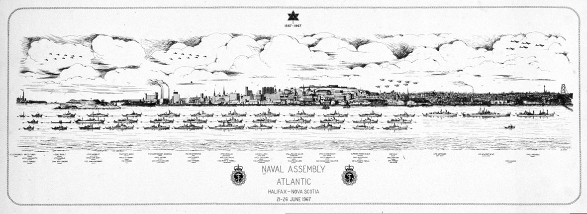 The naval assembly in Halifax for Canada's Centennial in 1967.