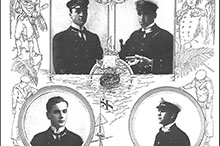 Canada's first naval casualties: the four midshipmen embarked in HMS Good Hope who were lost with the ship at the Battle of Coronel, 1 November 1914.
