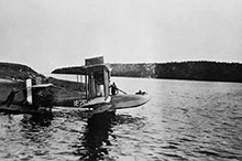 Naval Air Station Dartmouth was established in the summer of 1918 as a base for the planned RCN Air Service, but only U.S. Navy HS-2L flying boats such as this were available before the war ended.