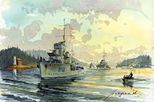 John Horton, West Coast Squadron Leaving Esquimalt.