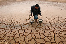 The severe drought conditions being experienced in many regions of the world may lead to competition for fresh water resources.