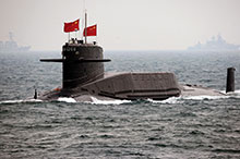 The Qingdao fleet review in April 2009, celebrating the 60th anniversary of the founding of the People's Liberation Army Navy, marked the first time China has displayed its nuclear-powered submarines, a sign of its aspirations to become a major sea power.