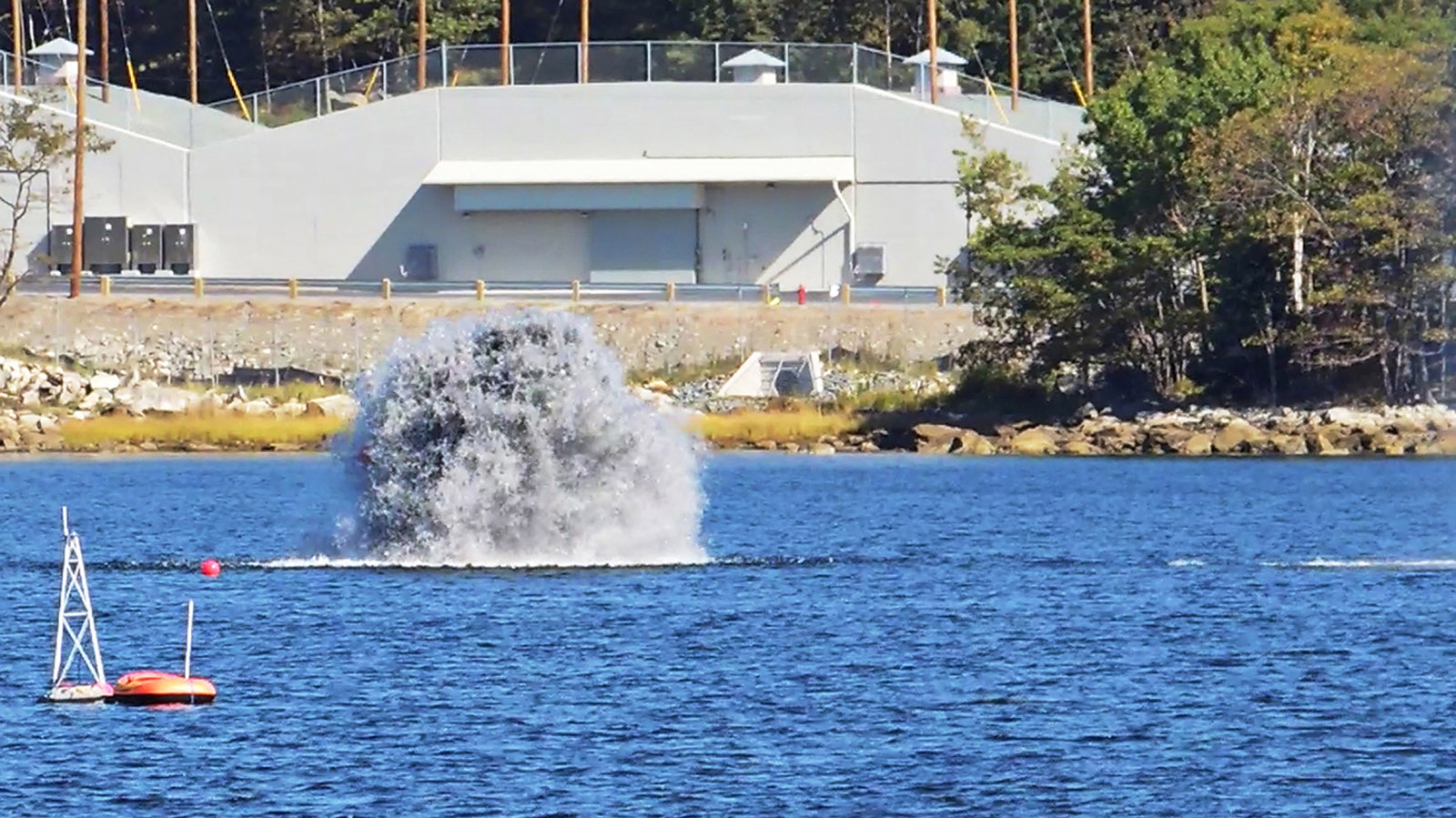 An underwater explosion in Bedford Basin