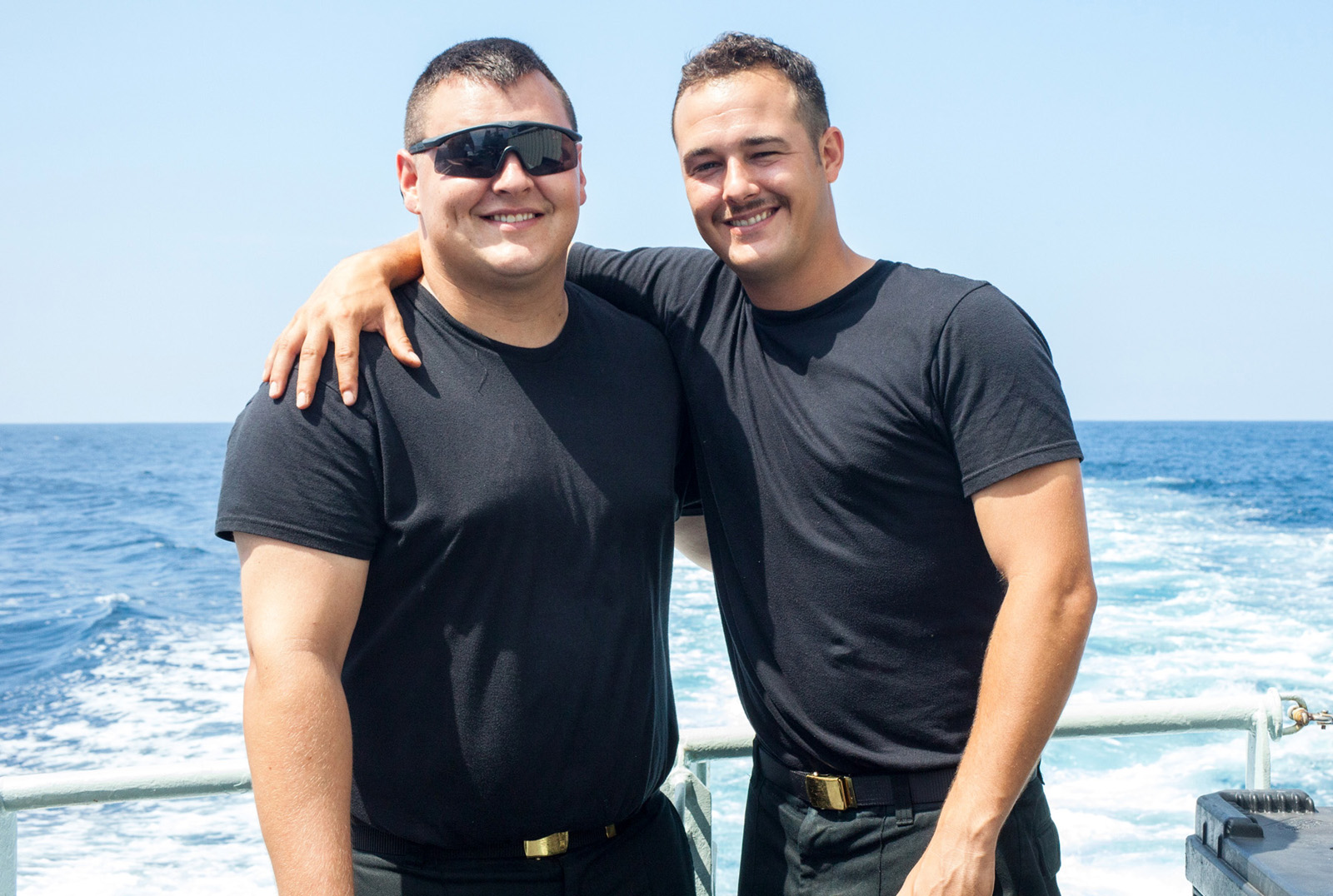 Master Seaman Donald Merlo and Leading Seaman Zachery Warwick