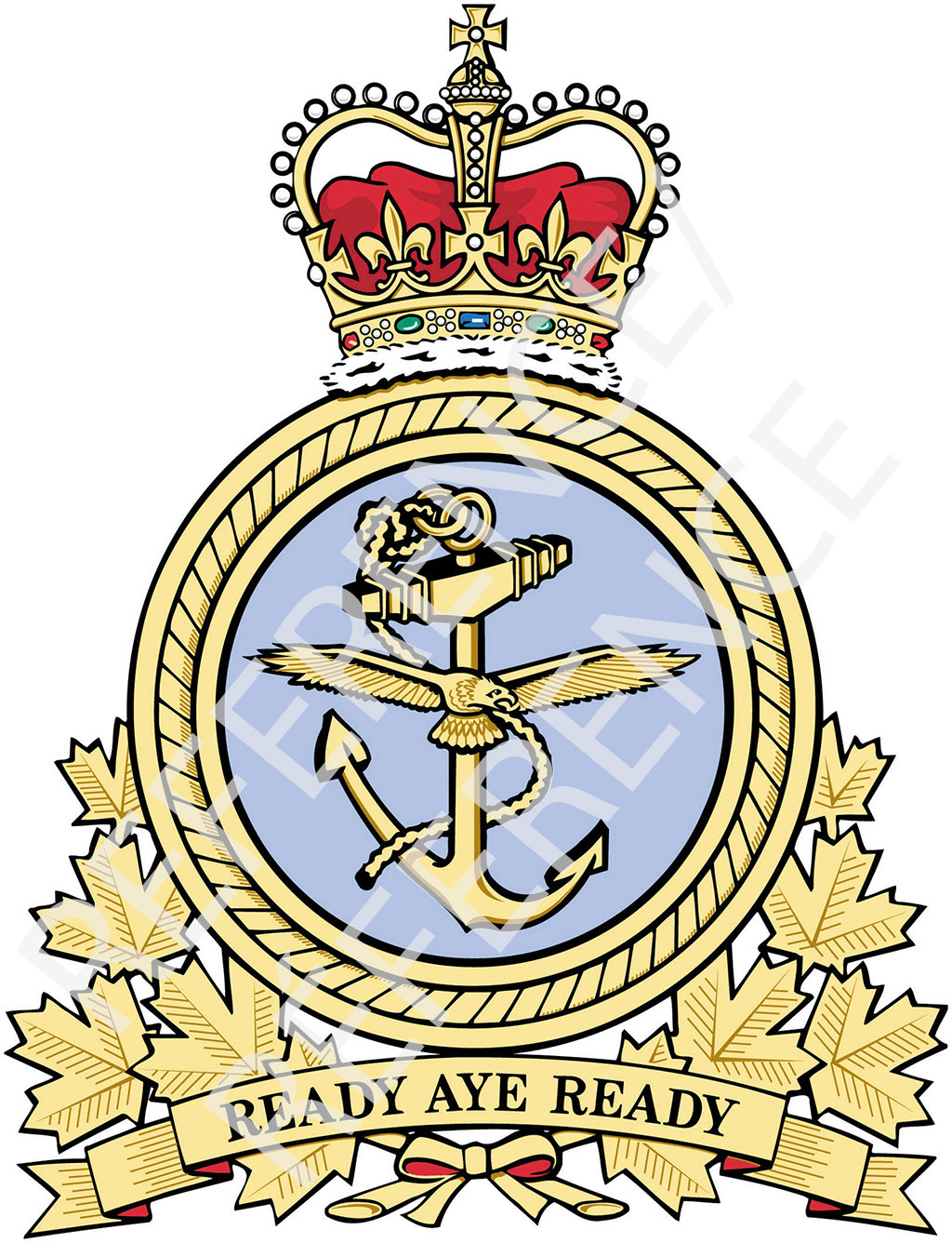 The former RCN command badge.