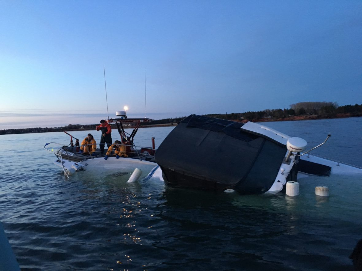 Sailors respond to a vessel in distress