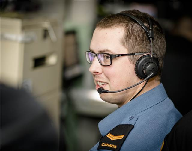 Leading Seaman (LS) Shawn Tiller, is a Naval Electronic Sensor Operator (NESOP) aboard the HMCS Montréal