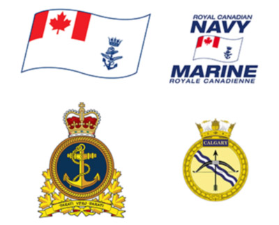 Les marques distinctives qui identifient la Marine royale canadienne