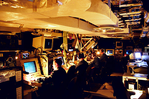 Operations Room: This is where the captain fights the ship. From rows of computers processing constant real-time information streams into a coherent tactical picture, HALIFAX combat systems teams engage their formidable array of defensive and offensive weapons to protect their ship and the other ships of the task group.
